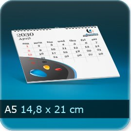 Calendriers A5 210x148mm