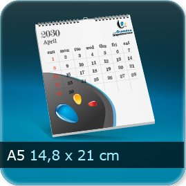 Calendriers A5 148x210mm