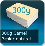 Cartes de visite 300g couleur Camel