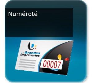 Cartes de correspondance Carte numéroté avec numéro incrémenté