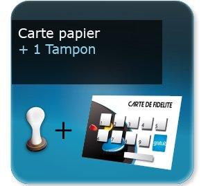 Carte de fidelité Carte fidélité papier + un tampon séchage rapide