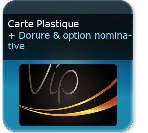 Carte de fidelité Carte de fidelité plastique VIP nominative