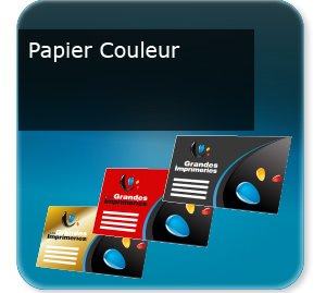 carte commerciale Papier offset de couleur