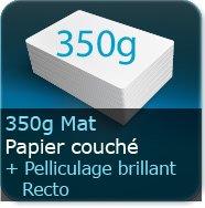 Cartes de visite 350g mat + pelliculage brillant Recto