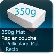 Cartes de visite 350g mat + pelliculage mat Recto