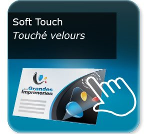 Carte message chauffagiste Pelliculage Mat SOFT TOUCH