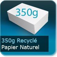 Cartes de visite 350g Recyclé cyclus blanc