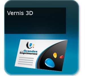 carte pizza Vernis UV selectif 3D
