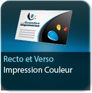 Cartes de correspondance Impression couleur au Recto et au Verso - Carte sans plis 2 pages