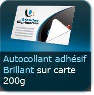 Autocollant Adhesif Brillant Sur Carte 200g Cartes De Visite