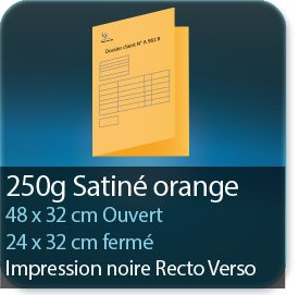 Chemises à rabats 250 gr satiné orange