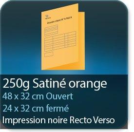 Chemises à rabats 250 gr satiné orange