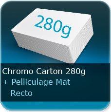 Chemises à rabats Extra epais  carton 280 gr chromo Carton + pelliculage Mat recto