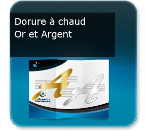 Document 3 volets Dorure à chaud Or ou Argent