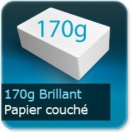 Dépliants / Plaquettes 170g Brillant Couché