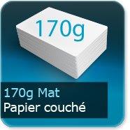 Dépliants / Plaquettes 170g Mat Couché