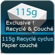 Dépliants / Plaquettes 115g Cyclus Print Couché