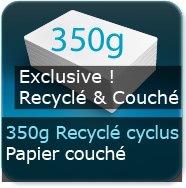Dépliants / Plaquettes 350g Cyclus Print Couché