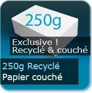 Dépliants / Plaquettes 250g Recyclé Couché