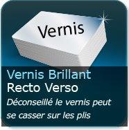 Dépliants / Plaquettes Vernis Brillant au Recto et Verso (risque de déchirure du vernis aux plis, nous vous conseillons le pelliculage)