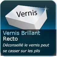 Dépliants / Plaquettes Vernis Brillant au Recto (risque de déchirure du vernis aux plis, nous vous conseillons le pelliculage)