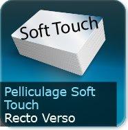Dépliants / Plaquettes Pelliculage Soft Touch Mat au Recto et Verso