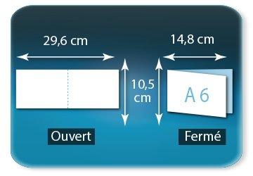Dépliants / Plaquettes Ouvert 10,5 x 29,6 cm - Fermé A6  10,5 X 14,8 cm