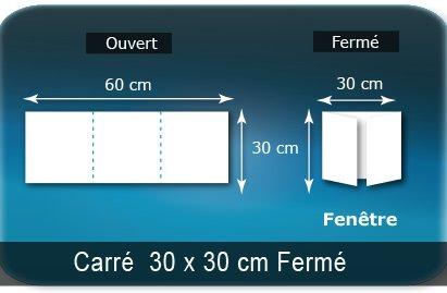Dépliants / Plaquettes Ouvert 30 x 60 cm - Fermé 30 x 30 cm