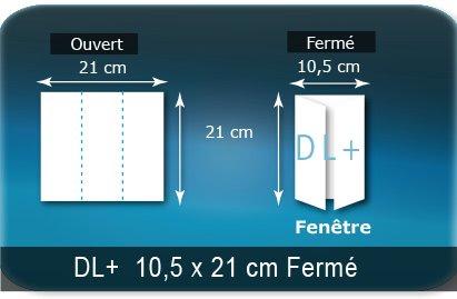 Dépliants / Plaquettes Ouvert 21 x 21 cm - Fermé DL+  10,5 x 21 cm