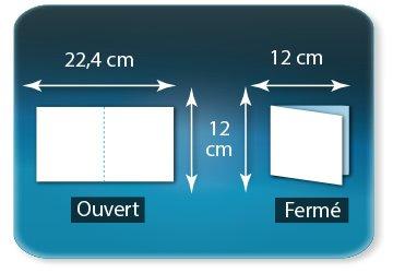 Dépliants / Plaquettes Ouvert 12 x 24 cm - Fermé 12 x 12 cm