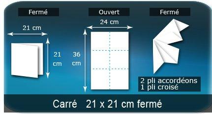 Dépliants / Plaquettes Ouvert 24 x 36 cm - Fermé 12 x 12 cm