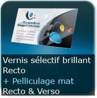 Dépliants / Plaquettes Pelliculage Mat au Recto et Verso + Vernis Sélectif Brillant au Recto