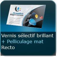 Dépliants / Plaquettes Pelliculage Mat au Recto + Vernis Sélectif Brillant au Recto