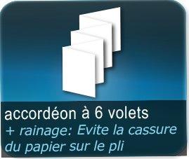 Dépliants / Plaquettes 5 plis accordéon + Rainage