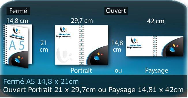 Menus a5 14,8 X 21 Cm Fermé - Ouvert En Portrait 21 X 29,7 Cm Ou Paysage 14,8 X 42 Cm