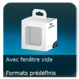 Emballage (Coffret, Boîte, carton, colis et etuis) Format standards avec fenêtre vide