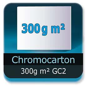 Emballage (Coffret, Boîte, carton, colis et etuis) Chromocarton 300g m² GC2