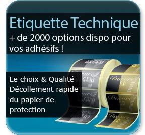 imprimeur étiquette Etiquette adhésive / autocollante technique