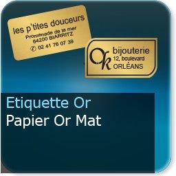 Autocollant & Étiquette Papier Or