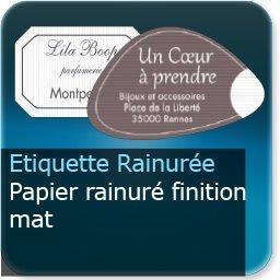 Autocollant & Étiquette Papier rainuré mat