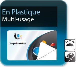 Autocollant & Étiquette Etiquettes multi-usages plastique pvc synthétique sticker