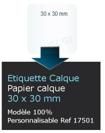 Autocollant Tiquette Etiquette Papier Calque Personnalis Format Carr Coins Ronds 3x3 Cm