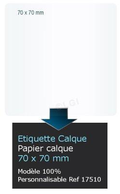 Autocollant Tiquette Etiquette Papier Calque Personnalis Format Carr Coins Ronds 7x7cm