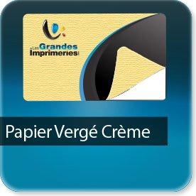 Autocollant & Étiquette Papier Vergé crème