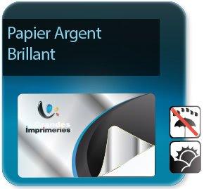 Autocollant & Étiquette Etiquettes Argent brillant