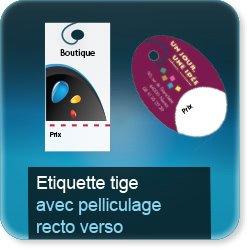 Autocollant & Étiquette Prestige avec pelliculage recto verso