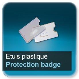 Badge Etuis plastique de protection semi rigide pour badge 86x54mm en épaisseur 0,5 ou 0,76mm
