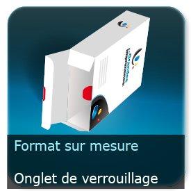 Emballage (Coffret, Boîte, carton, colis et etuis) Format personnalisé + Languette d'insertion + onglet de verrouillage - ECMA X33