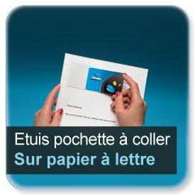 Badge Etuis transparent adhésif à coller sur papier à lettre, pour badge 86x54mm n7930