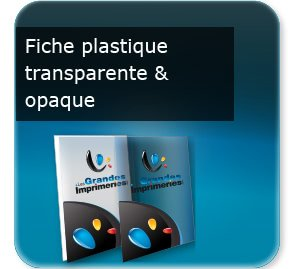impression tract Fiche document en plastique transparent ou opaque
